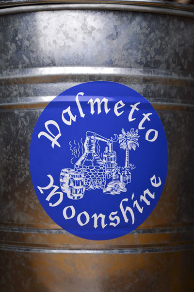 PALMETTO MOONSHINE STICKER 5×5 ROUND