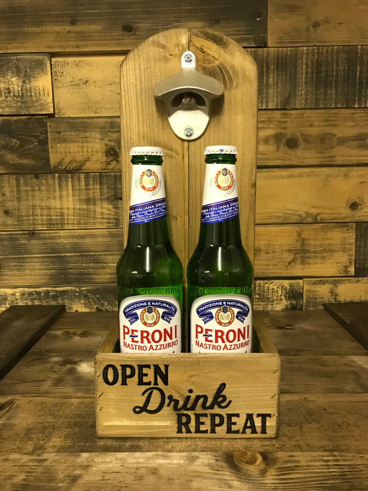 Wooden Bottle Opener Stand