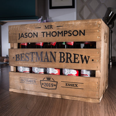 Best Man Beer Crate