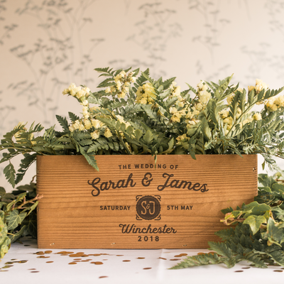 Medium Centre Piece Wedding Crate
