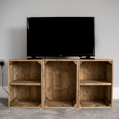 Tv Unit Style 1 White Wash Or Reg stain