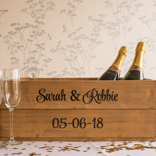 Personalised Shallow Wedding Crate