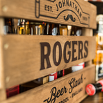 Beer crate - Editable Rogers Logo