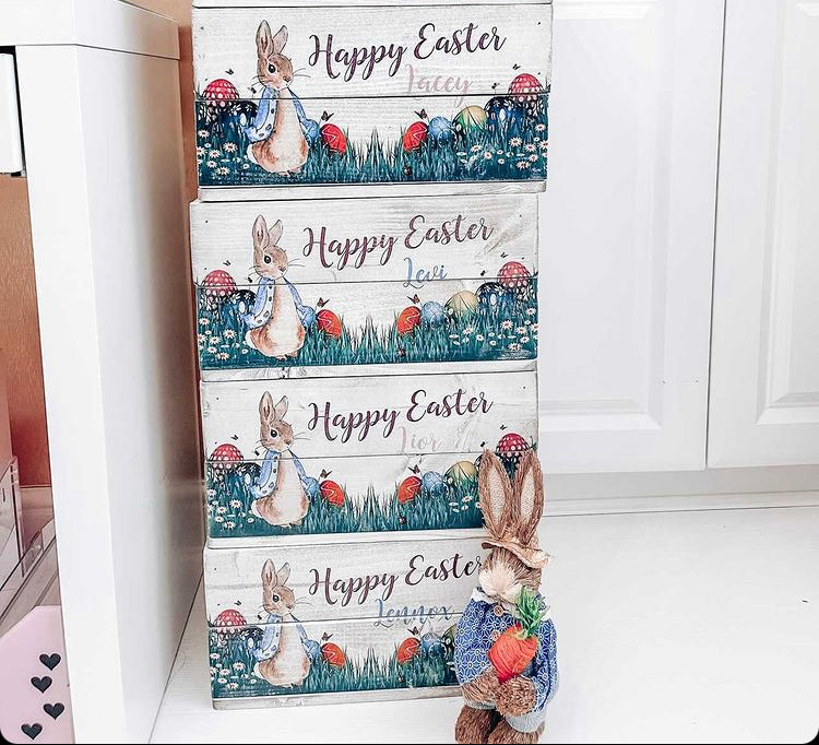 Personalised Easter Bunny Crate