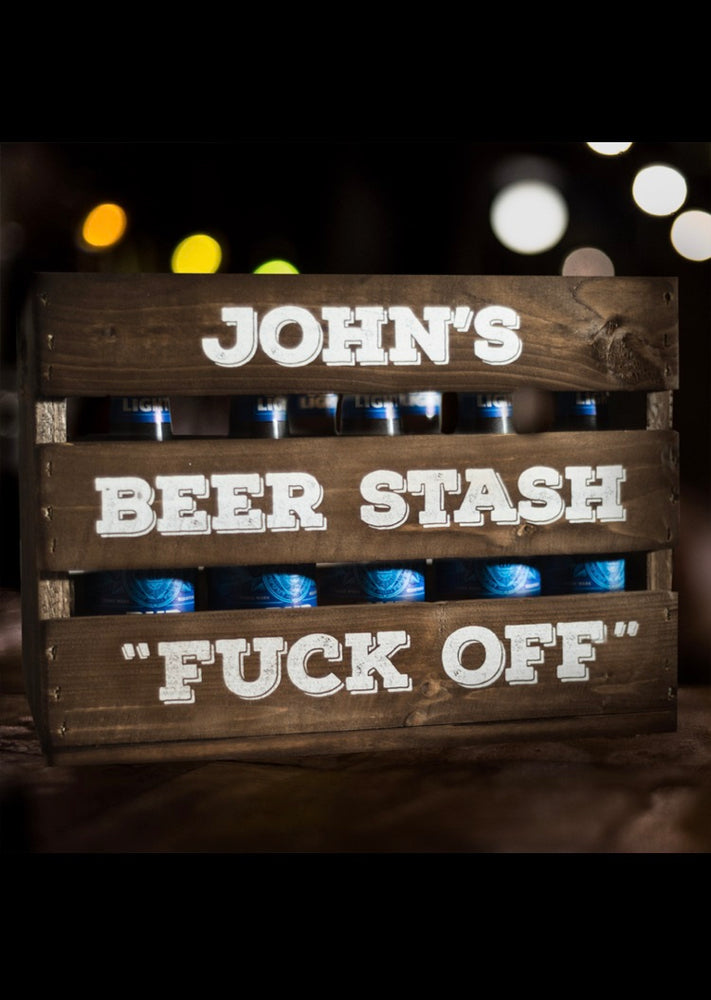 F@#k Off Beer Crate - Personalised