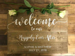 Wedding Sign - Personalised - Happily Ever After