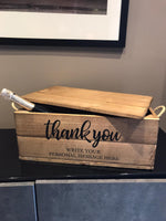 Thank You Hamper with lid - Personalised