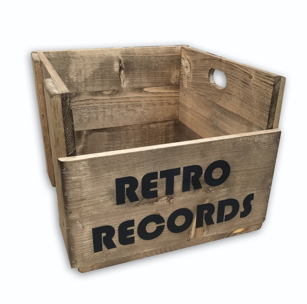Vinyl Record Storage Crate