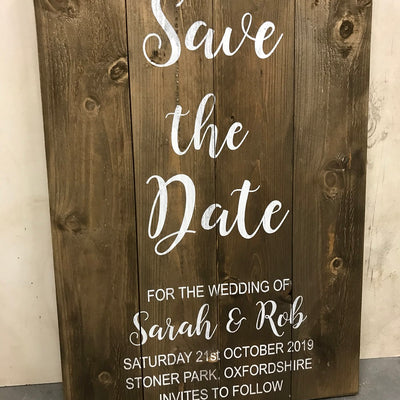 Wedding Sign - Personalised - Save The Date