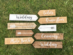 Wedding Plank Signs
