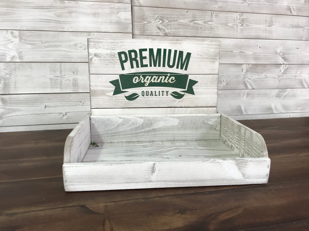 Point of Sale counter top Logo Tray