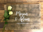 Wedding Guest Book Plaque - Personalised Classic