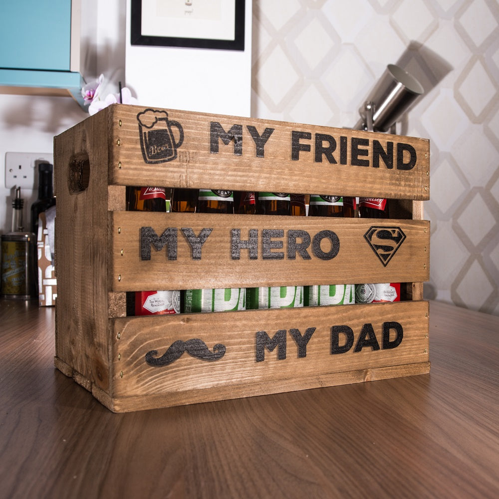 My Dad My Hero Beer Crate