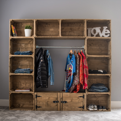 New York Loft Wardrobe Unit - Free Delivery