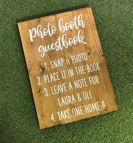 Wedding Sign - Personalised - Photobooth Guestbook