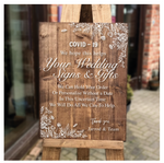 COVID19 - Wooden Wedding Signs & Gifts - How We Can Help