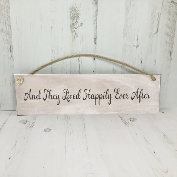 Hanging Wooden Sign