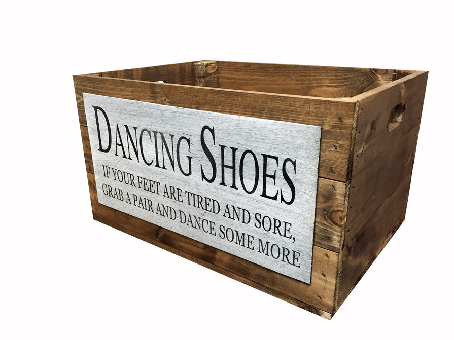 Wedding Dancing Shoes Crate