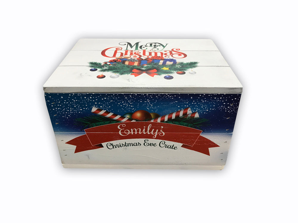 Christmas Box with lid - Personalised - Premium White