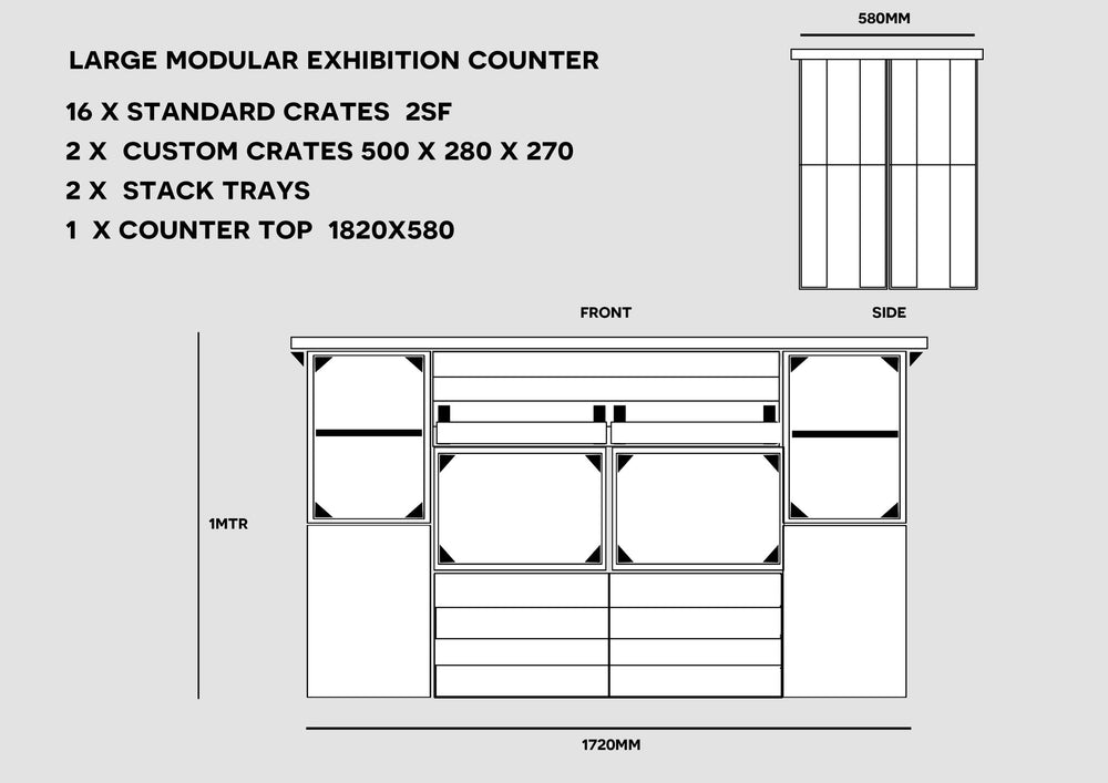 Large Modular Event Stand - Free Delivery