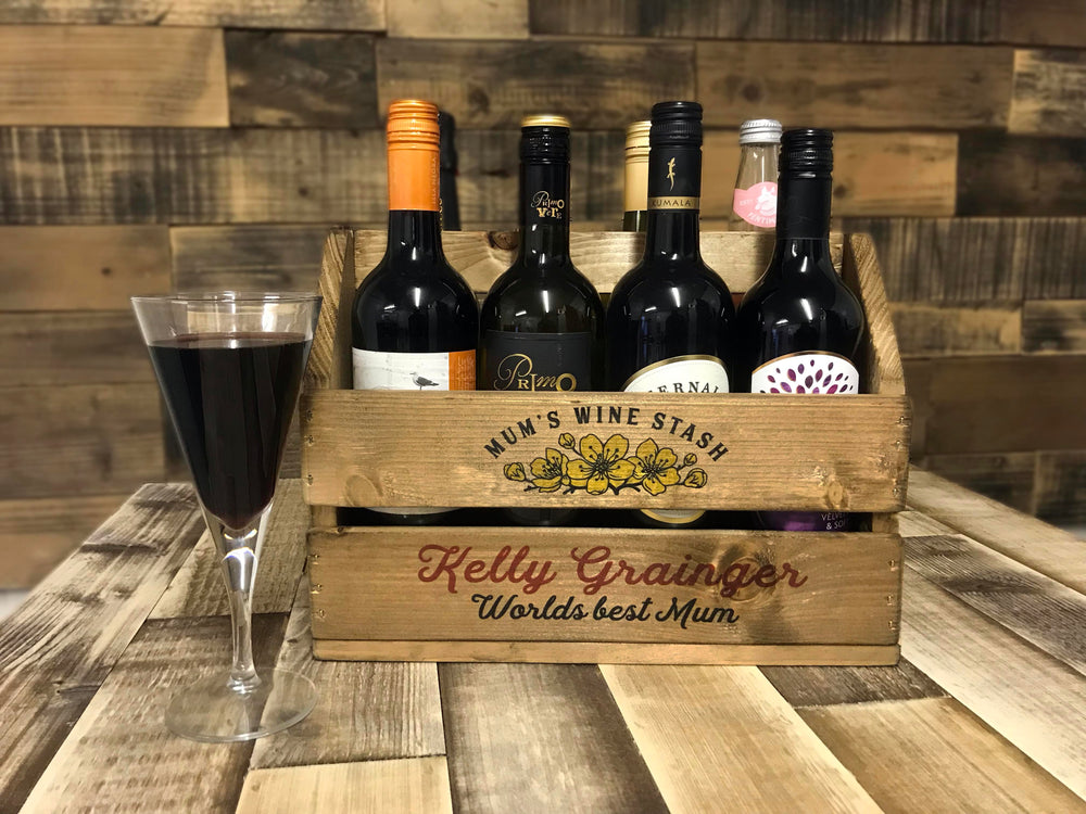 Wine Carry Crate - Editable Logo