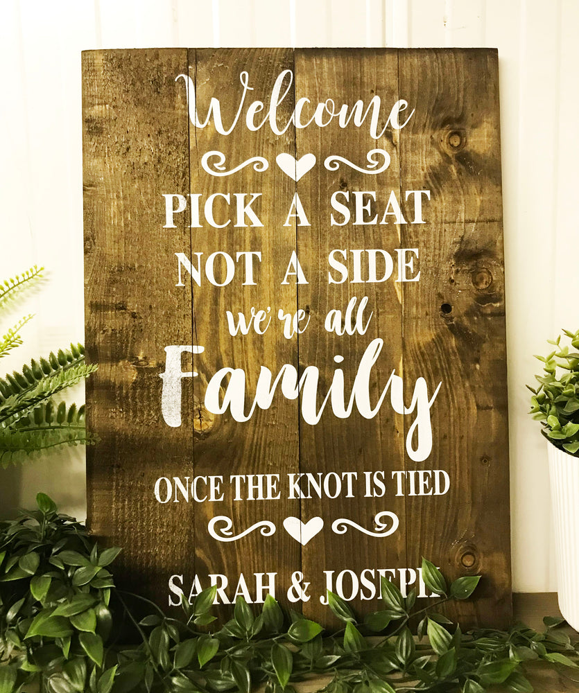 Wedding Sign - Personalised - Pick A Seat