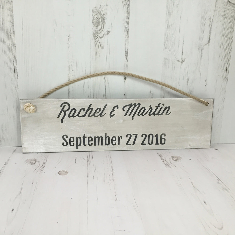 Hanging Wooden Sign (includes rope hanger)