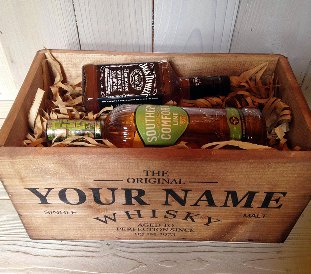 Personalised whisky/wine crate