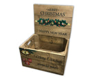 Christmas Box with lid - Personalised - Classic Wood Stain