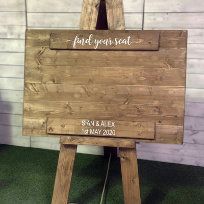 Wedding Seating Plan - Simple, add your own table details