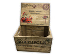 Christmas Eve crate with lid - Personalised - Traditional Wood Stain
