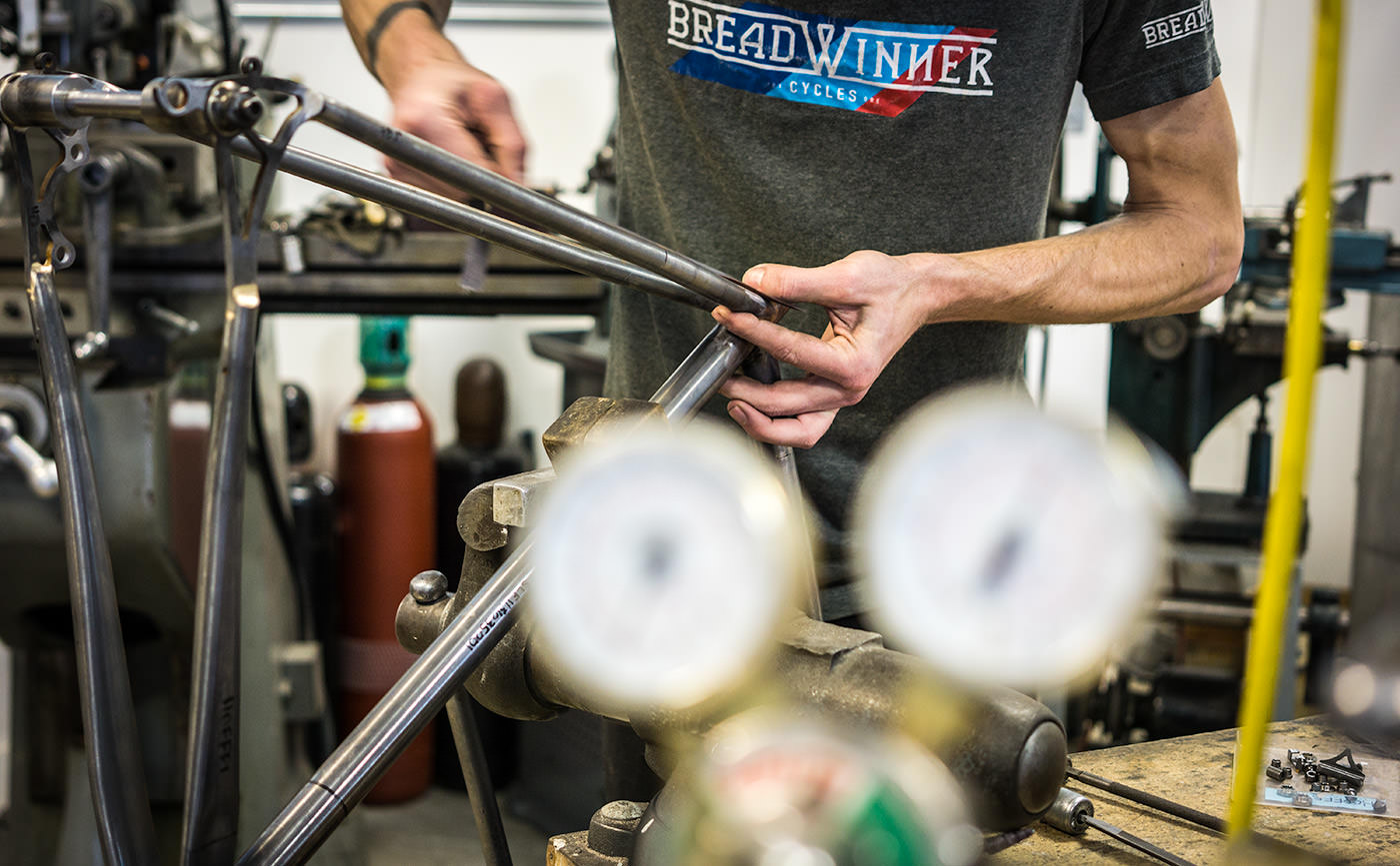 Frame-building at Breadwinner Cycles