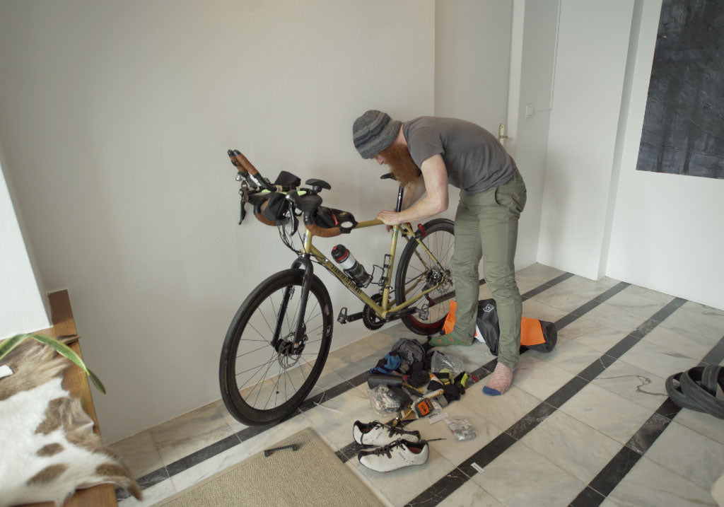 Preparing the bike