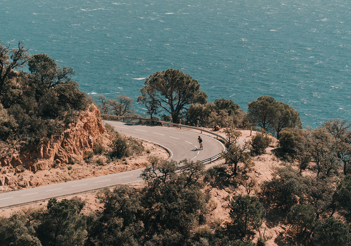 Road Cycling by the coast in Catalonia