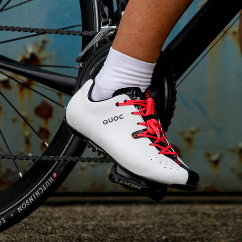 Night White Road Cycling Shoes