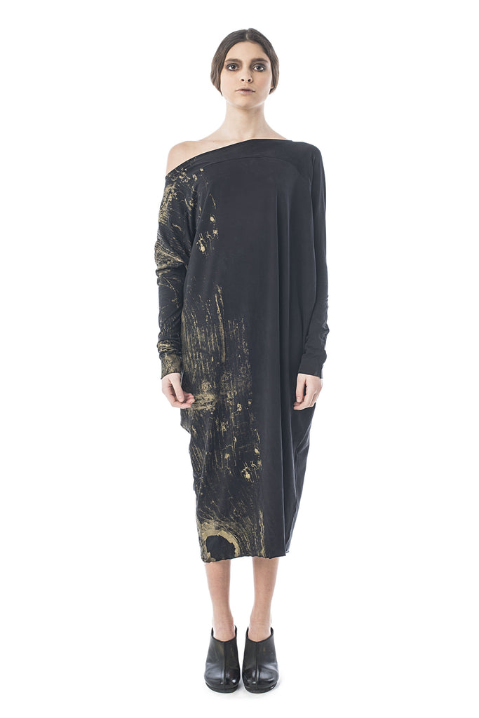 CLEOPATRA DRESS GOLD PRINTED 7