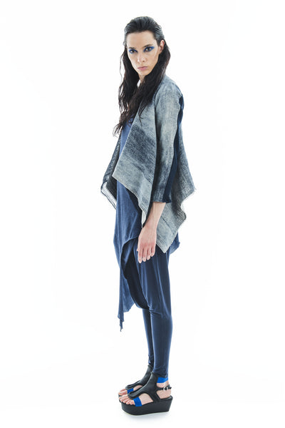 Rectangle Cardigan Denim