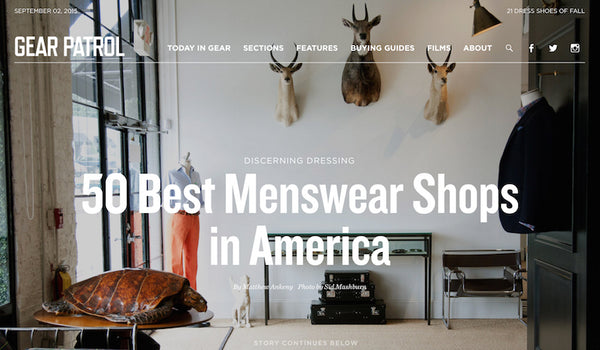 Xhibition among to 50 Best Menswear Shops in America.