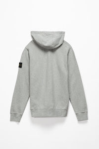 Stone Island Badge Logo Full Zip Hoodie  - XHIBITION