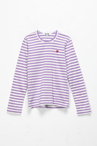 Comme des Garcons PLAY Women's Striped Long Sleeve T-Shirt  - XHIBITION