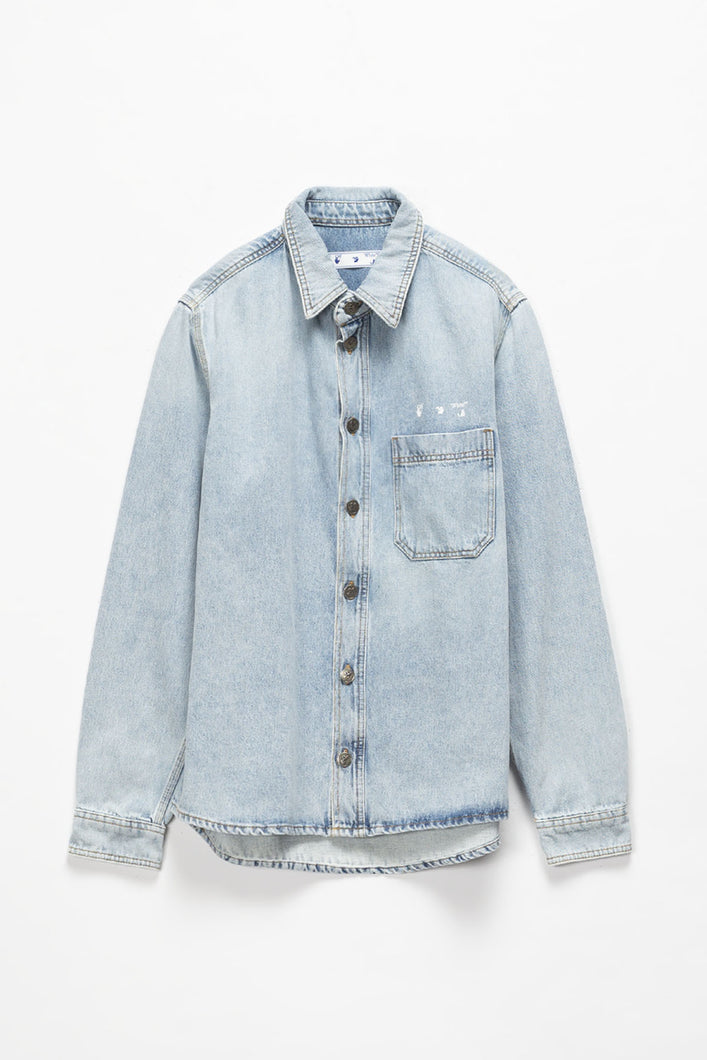 Off-White OW Logo Denim Shirt  - XHIBITION