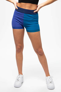 Nagnata Women's Colorblock Yoni Shorts  - XHIBITION