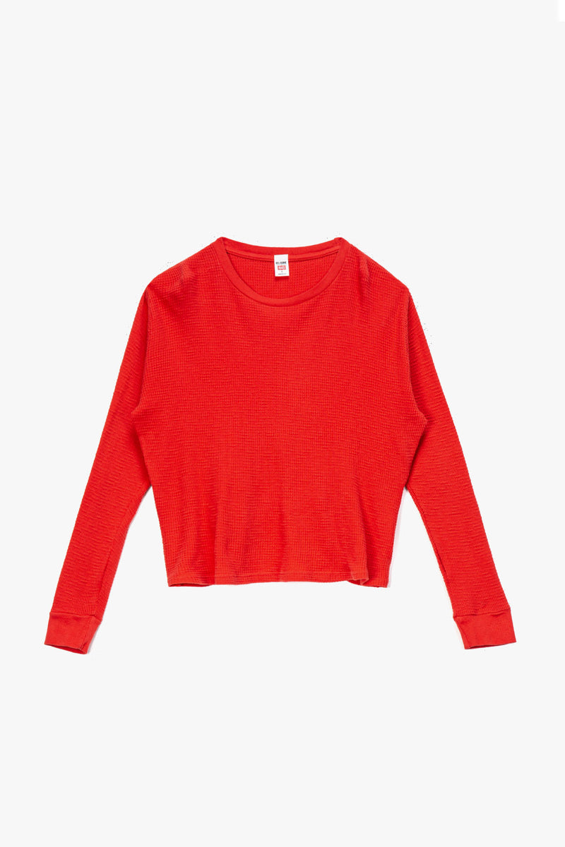 RE/DONE Women's Thermal Long Sleeve T-Shirt  - XHIBITION