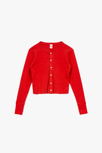 RE/DONE Women's 50s Cropped Button Long Sleeve T-Shirt  - XHIBITION