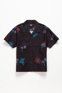 Stüssy Hand Drawn Flower Shirt  - XHIBITION