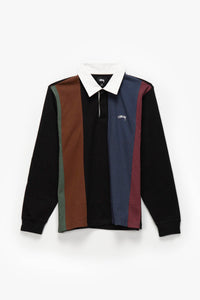 Stüssy Vertical Stripe Rugby Shirt  - XHIBITION