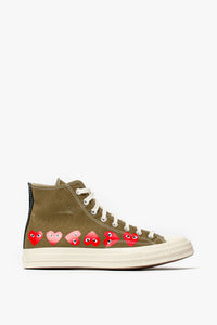 Converse Comme des Garcons Play x Chuck Taylor All Star 1970s Hi 'Multi Heart'  - XHIBITION