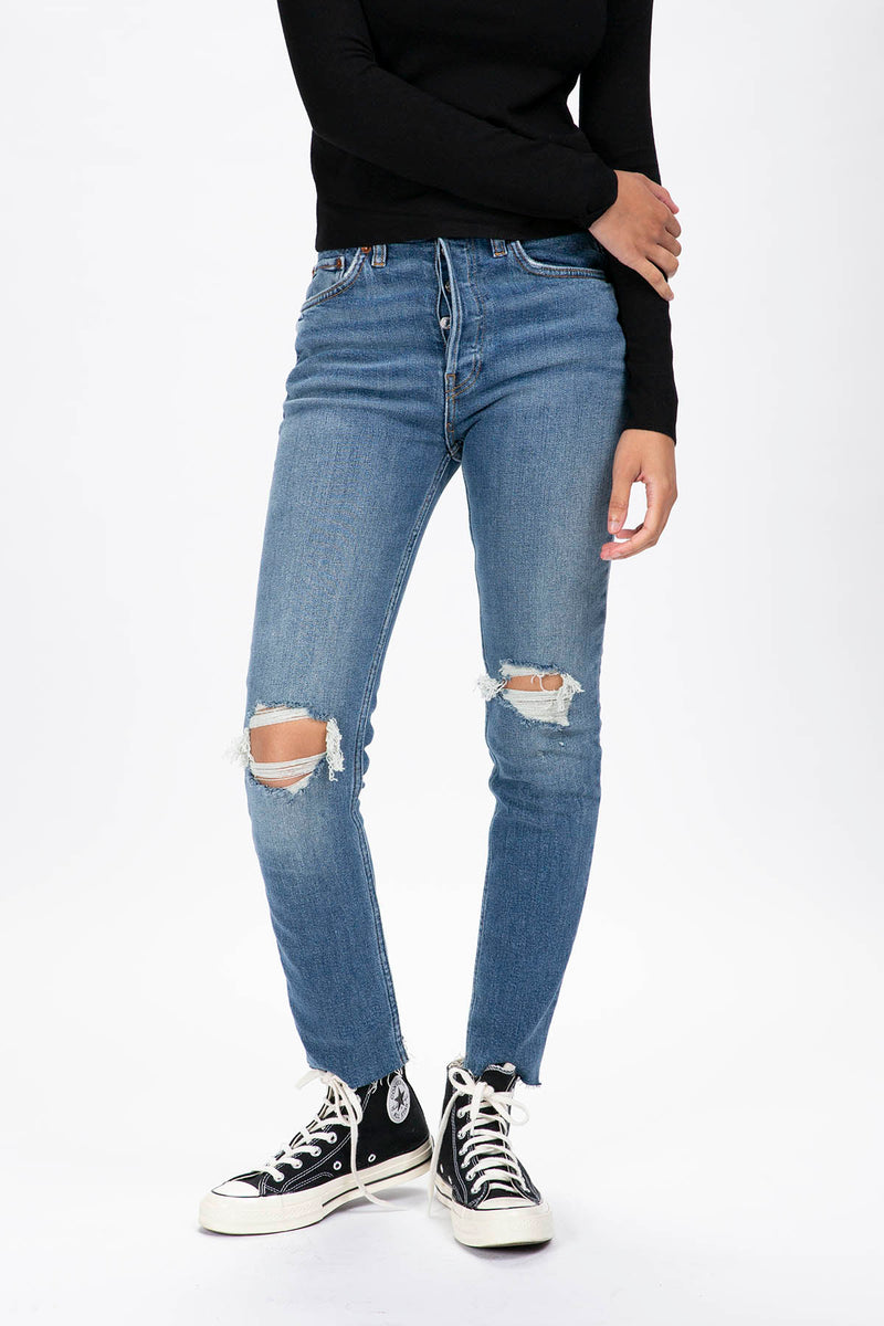 RE/DONE Women's 90s High Rise Ankle Crop  - XHIBITION