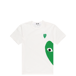 Comme des Garcons PLAY Green Heart Logo T- Shirt  - XHIBITION