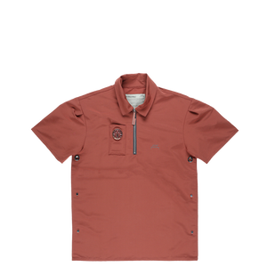 A-COLD-WALL* Compass Side Snaps Short Sleeve Polo  - XHIBITION